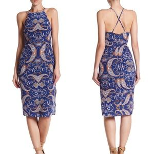 Yumi Kim Afternoon Tea Silk Midi Paisley Dress M